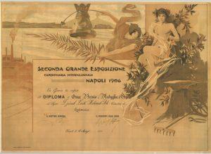 1906 Napoli'de aldığımız Altın Madalya